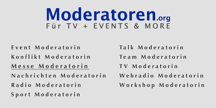 Messe Moderatorin