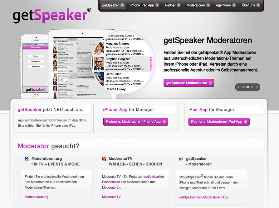 getSpeaker Moderator iPhone iPad App