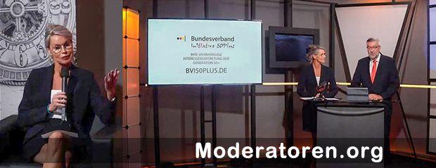 Hybrid Event Moderatorin Dr. Stephanie Robben-Beyer Moderatoren.org