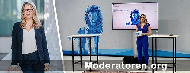 Hybrid Event Moderatorin Janine Utsch Moderatoren.org