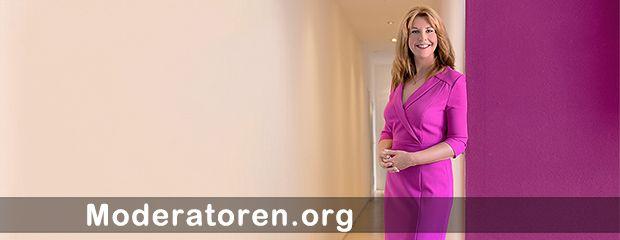 Messemoderatorin Manuela Stamm Moderatoren.org