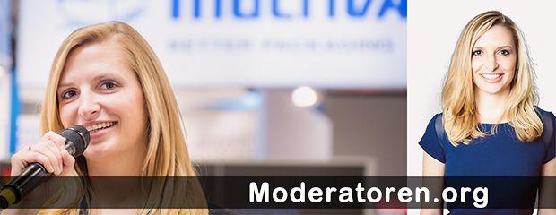 Messemoderatorin Janine Mehner Moderatoren.org